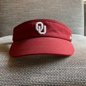 OU Boomer Sooner Oklahoma University crimson visor